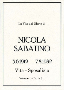 Sabatino Nicola_Diario_Volume_1_6_Vita_Nozze
